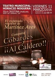 Actuación en Isla Cristina de la Comparsa «Los Cobardes y Al Caldero»