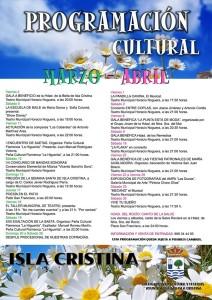 Programación Cultural Marzo & Abril para Isla Cristina