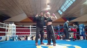 La Isleña Leovigilda Gutiérrez Campeona de Andalucía en Full Contact