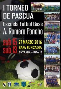 "El Cadete del Isla Cristina Participa en el ""I Torneo De Pascua Escuela Fútbol Base A. Romero Pancho""."