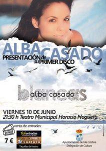 Alba Casado, hoy viernes en el Teatro Horacio Noguera de Isla Cristina