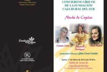 La copla será la protagonista el próximo jueves del concierto lírico de Fundación Caja Rural de Sur