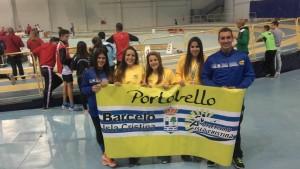 Rosa Flores «Campeona en Triple» del Andaluz Sub 20 de Atletismo en P.C. / Laura Flores «Bronce» en Longitud