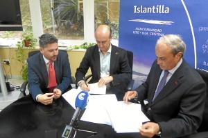 Firma del Convenio de colaboración entre la Mancomunidad de Islantilla y la Cámara de Comercio