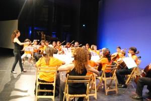 Alumnos del Conservatorio de Música isleño