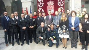 Los Juegos de Policías y Bomberos de Huelva se Presentan ante las Embajadas Europeas