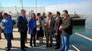 Inauguran el primer paso para integración del puerto-ciudad en Isla Cristina