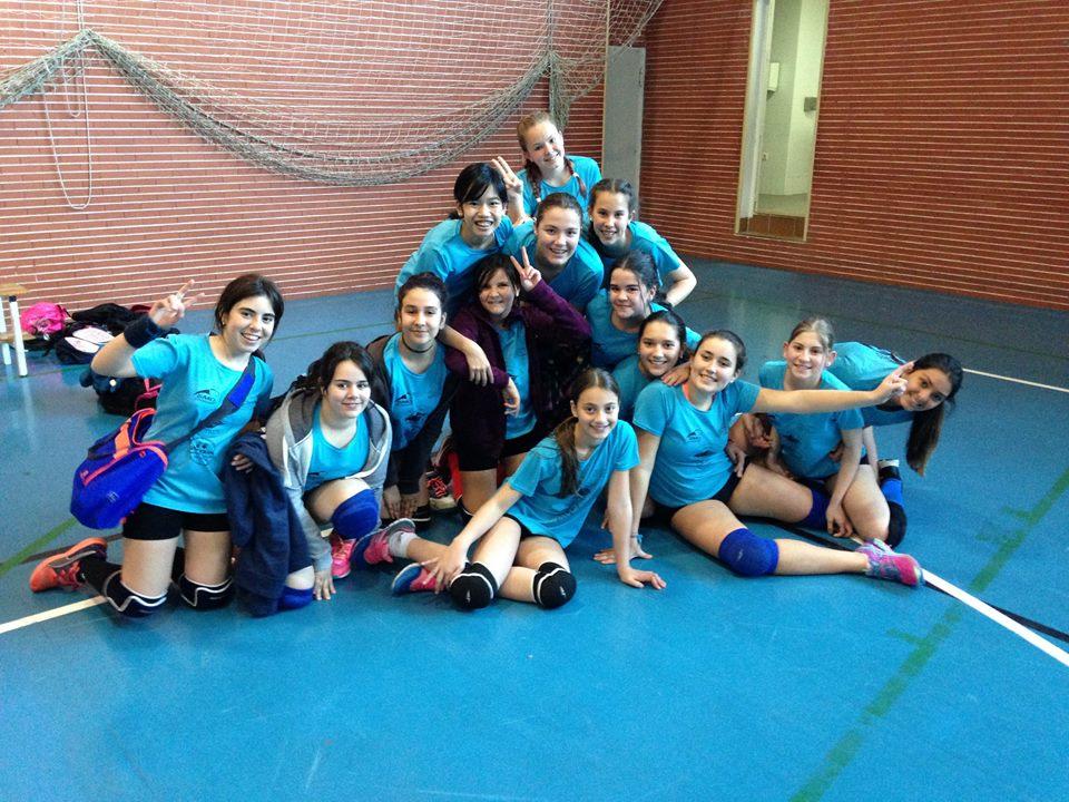 Último partido de liga del cadete Voleibol Isla Cristina Vic