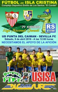 El Juvenil de la Punta del Caimán a por la victoria ante el Sevilla