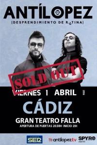 Antílopez El dúo de Isla Cristina presentó en el Gran Teatro Falla 'Desprendimiento de rutina'