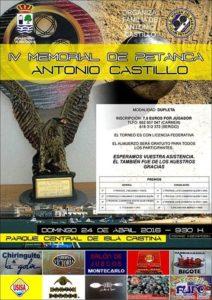 """Isla Cristina Acoge el """"IV Memorial de Petanca Antonio Castillo"""""""