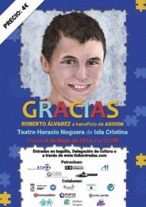 Roberto Álvarez, presenta en el Teatro Municipal Horacio Noguera, su disco a beneficios de ASIDEM