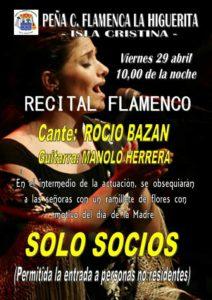 Recital Flamenco en Isla Cristina de Rocío Bazán