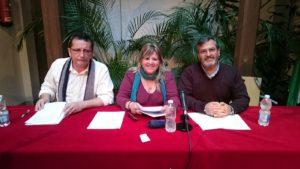 A la derecha Francisco González junto a Montse Mayora y Antonio Martínez