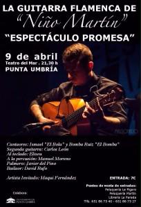 El Guitarrista 'Niño Martín' Estrena en Punta Umbría su Espectáculo 'Promesa'
