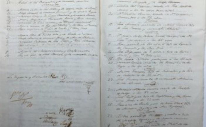 Documento del Mes que quedará expuesto a partir de hoy, 1 de abril de 2016 en la Biblioteca Municipal de Isla Cristina.