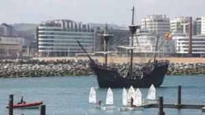 La Nao Victoria Construida en Isla Cristina Recala en Marbella