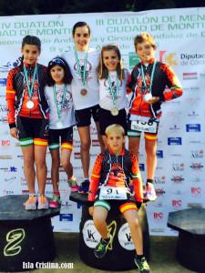 Los Clubes Onubenses Dominan el Campeonato de Andalucía de Duatlón de Menores