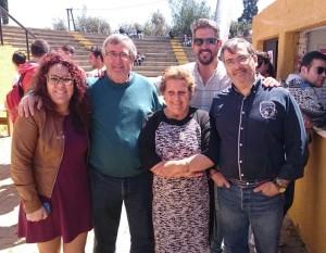 La Alcaldesa isleña junto al resto de autoridades en la Fiesta de la Primavera