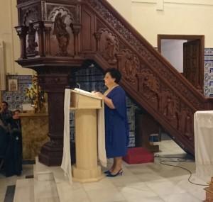 La isleña Isabel Perera protagoniza el XXXV Pregón Rociero en Isla Cristina