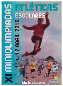 XI Miniolimpiadas Atléticas Escolares Ciudad de Isla Cristina 2016