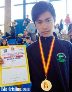 Nacho Colombo Campeón del Open Internacional de España de Taekwondo