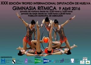 El Trofeo Diputación de Gimnasia Rítmica reúne en Gibraleón a más de 500 gimnastas de 40 clubes
