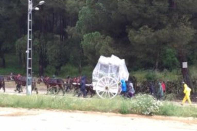 De Llera destaca el «buen» funcionamiento de los itinerarios alternativos de las hermandades que peregrinan al Rocío