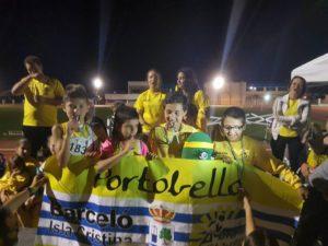 El C.A. Isla Cristina Alevín en la Final del Campeonato de Clubes de Andalucía