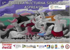 Ayamonte Alberga la I Carrera Solidaria Nocturna Aspreato