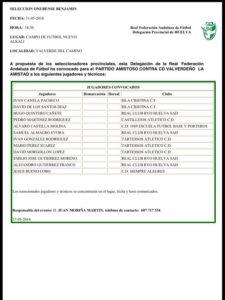 Isleños en la Convocatoria Selección Provincial Benjamín Masculina