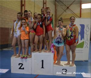 Destacada actuación del Club La Higuerita en el I Torneo Provincial de Gimnasia Rítmica «Villa de Rociana»