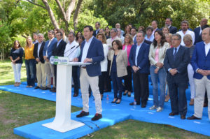 Juanma Moreno y Soraya Sáenz presentan candidaturas PP andaluz 26J