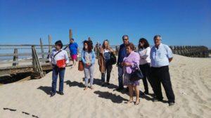 La Alcaldesa y el Jefe del Servicio Provincial de Costas visitan las playas de cara a las próximas actuaciones a causa del temporal