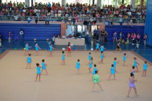 Uno de los torneos de gimnasia rítmica celebrados en Isla Cristina