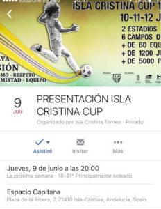 Presentación del III Torneo de Fútbol Base Isla Cristina Cup 2016
