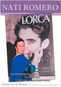 Nati Romero le Canta a Lorca y otros autores en Isla Cristina