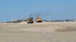Las playas de Isla Cristina que destrozó el temporal reparadas