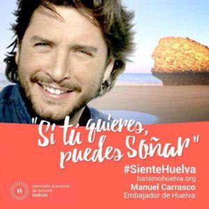 Manuel Carrasco graba un spot para Interfresa en Isla Cristina