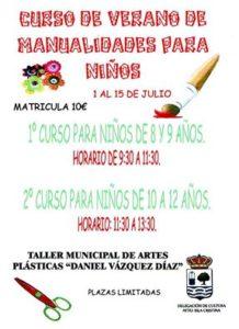Curso de verano de manualidades para niños en Isla Cristina