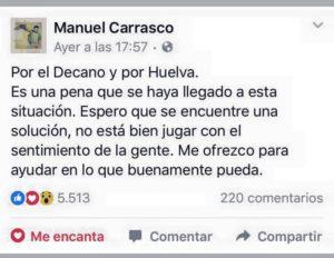 Manuel Carrasco, se ofrece para ayudar a salvar el Recreativo de Huelva