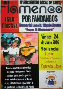 IV Encuentro de Cante Flamenco Isla Cristina por fandangos