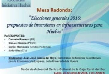 La Asociación 'Iniciativa Huelva' convoca el primer debate electoral publico de la campaña en Huelva