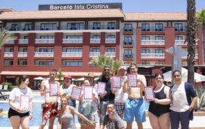 Los usuarios de ASIDEM clausuran sus actividades deportivas en el Barceló Isla Cristina