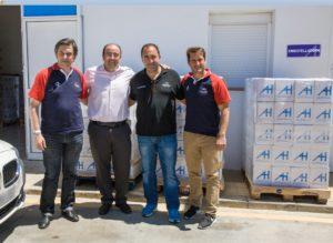 Aguas de Huelva entrega 30.000 botellas de agua, para los Juegos Europeos de Policías y Bomberos.
