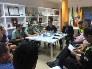 Junta de Seguridad de cara al celebración de las Fiestas en Honor a María Auxiliadora