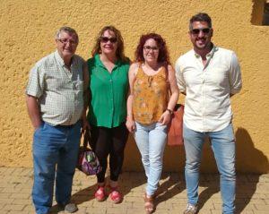 Juan Hernandez, Teniente de Alcalde, las concejalas Anan Belen Barros y Nerea Ortega y el concejal de Juventud, Natanael Lopez