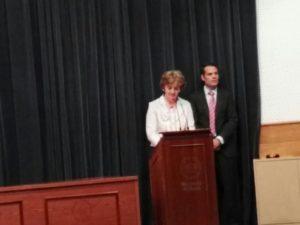 Lola Martín durante su intervención