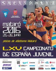Estela Cazorla y Raúl Camacho en el Nacional Juvenil de Atletismo