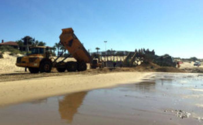 A buen ritmo las obras de recuperación de la playa de Islantilla